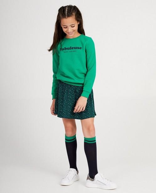 Jupe verte, imprimé BESTies - sur toute la surface - Besties