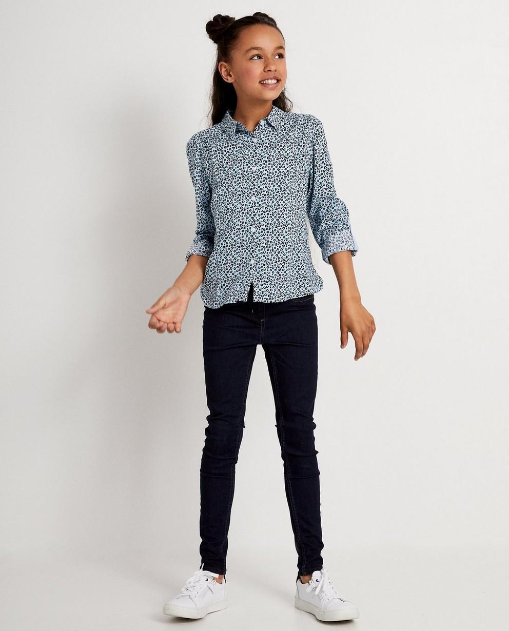 Blauw hemdje met print BESTies - allover - Besties
