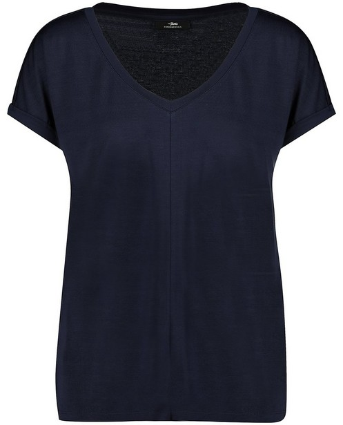 T-shirt bleu foncé - en modal - JBC