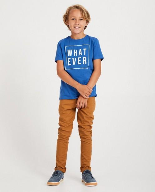 Blauw shirt met opschrift BESTies - in 3 kleuren - Besties