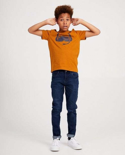 Donkerblauw T-shirt BESTies - met print - Besties