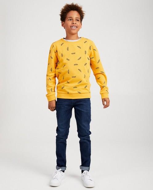 Antracietgrijze sweater BESTies - met print - Besties