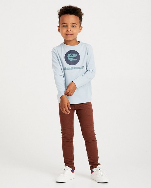 T-shirt bleu à manches longues BESTies - imprimé de métiers - Besties