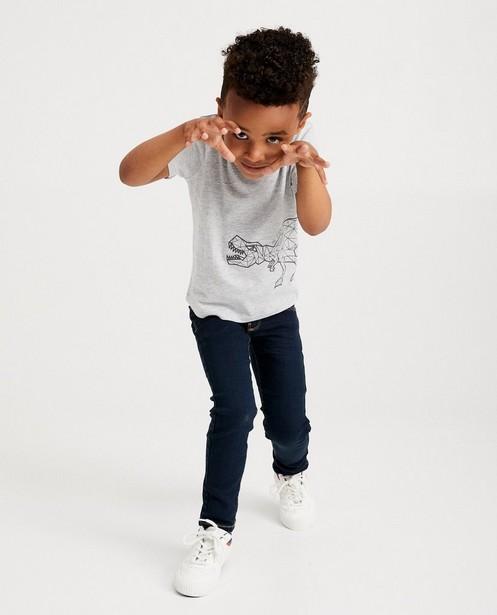 T-shirt gris BESTies - imprimé de dinos - Besties