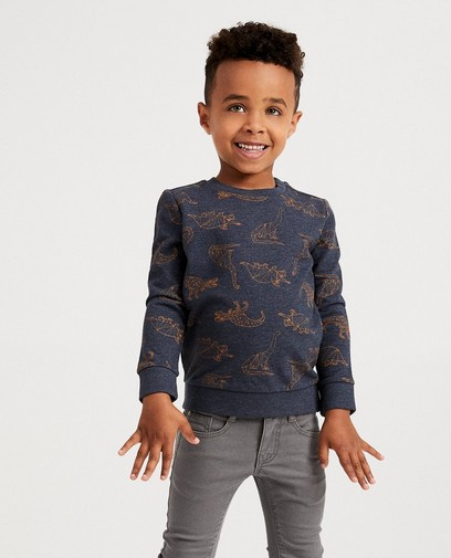 Donkergrijze sweater BESTies
