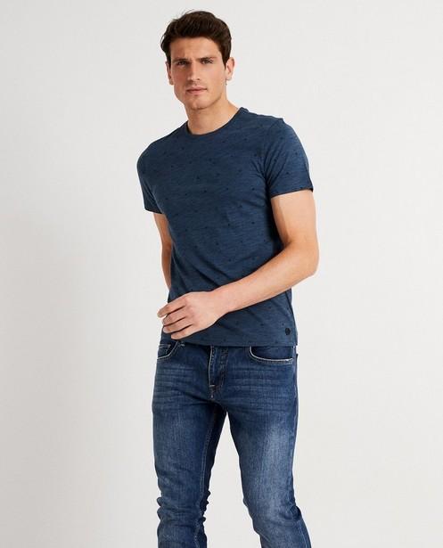 T-shirts - T-shirt bleu à imprimé