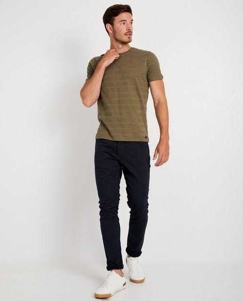 T-shirt vert, rayures en relief - sur toute la surface - JBC