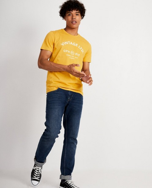 T-shirt bleu avec imprimé vintage - à la poitrine - JBC
