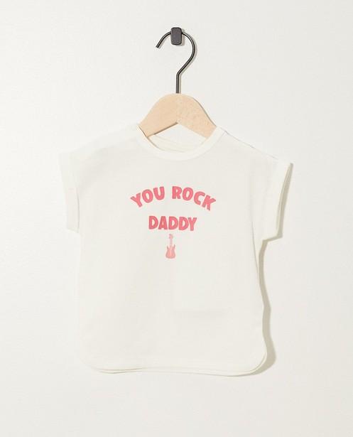 T-shirt rose avec inscription - et imprimé - JBC