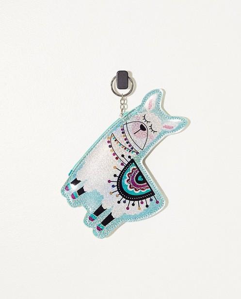 Porte-clés lama avec petit sac - à paillettes - JBC