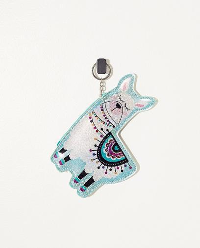 Lama-Schlüsselanhänger mit Minitasche