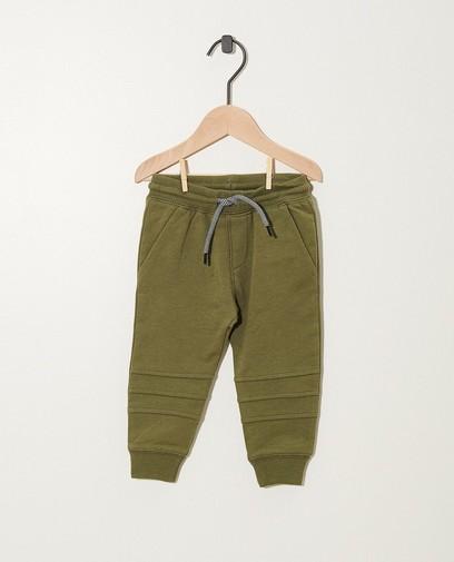 Pantalon vert en coton bio