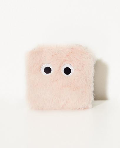 Roze portefeuille met oogjes