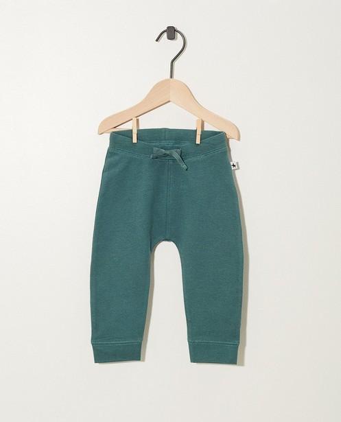 Jogging terracotta en coton bio - pantalon molletonné - JBC