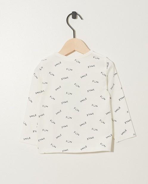 T-shirts - Grijsgroene longsleeve van biokatoen