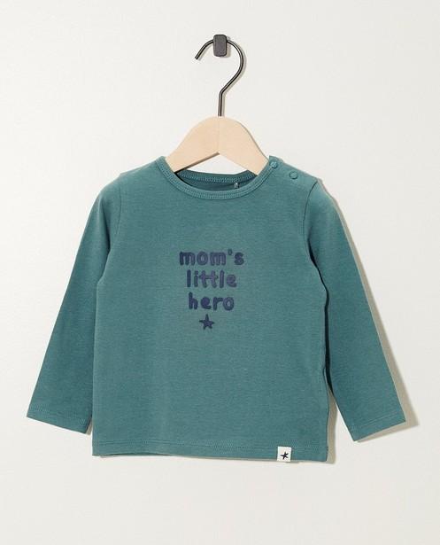 T-shirt vert à manches longues, coton bio - différents modèles - JBC