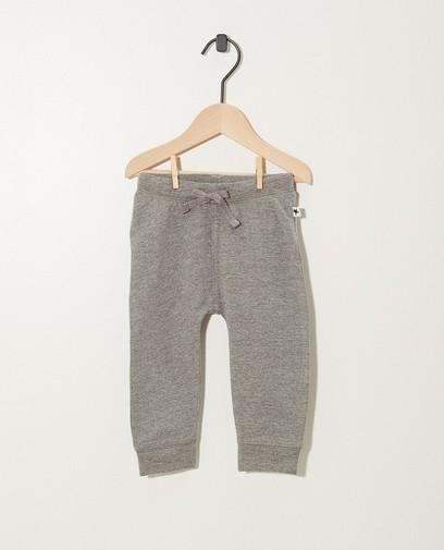 Pantalon jogging gris en coton bio