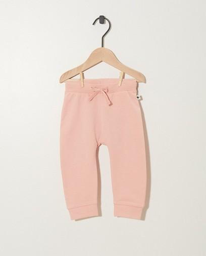 Pantalon jogging rose en coton bio