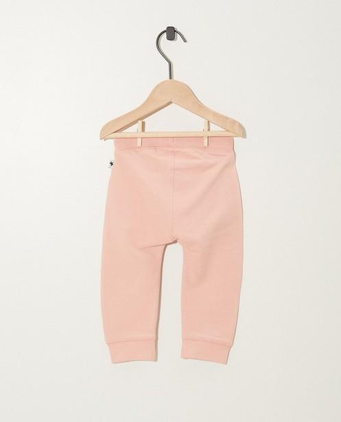 Pantalons - Roze joggingsbroek van biokatoen