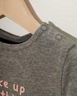 T-shirts - Grijze longsleeve van biokatoen