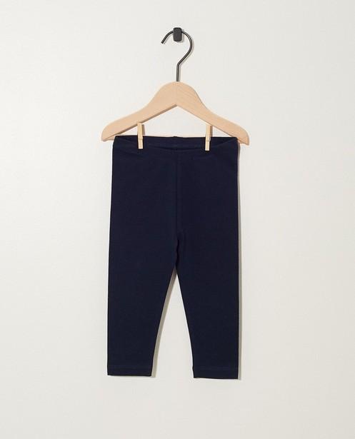 Leggings bleu marine en coton bio - basique - JBC
