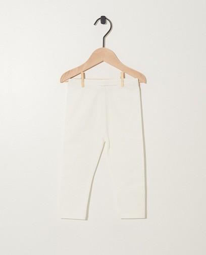 Witte legging van biokatoen