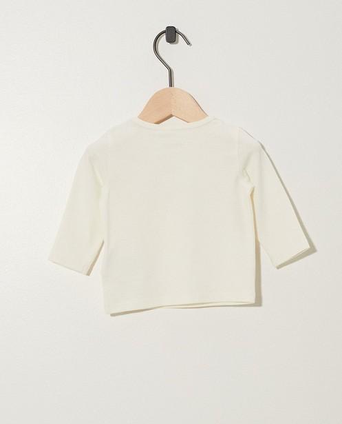 T-shirts - Witte longsleeve met print