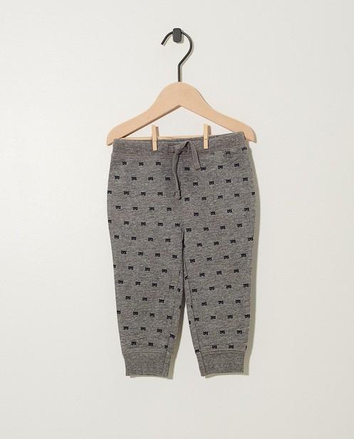 Pantalon gris, imprimé BESTies - sur toute la surface - Besties