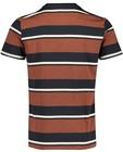 T-shirts - Bruin T-shirt met strepen
