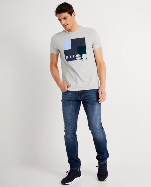 T-shirt gris avec imprimé - color block - Iveo