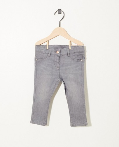 Graue Jeans mit Stretch