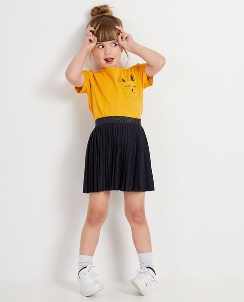 T-shirt jaune avec lapin BESTies - sur la poche de poitrine - Besties