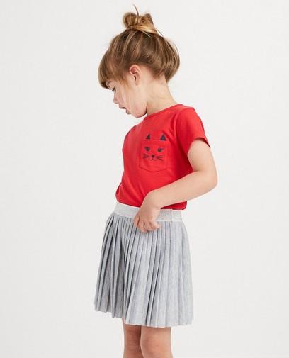 T-shirt rouge avec chat BESTies
