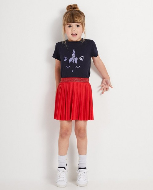 T-shirt bleu marine BESTies - imprimé - Besties
