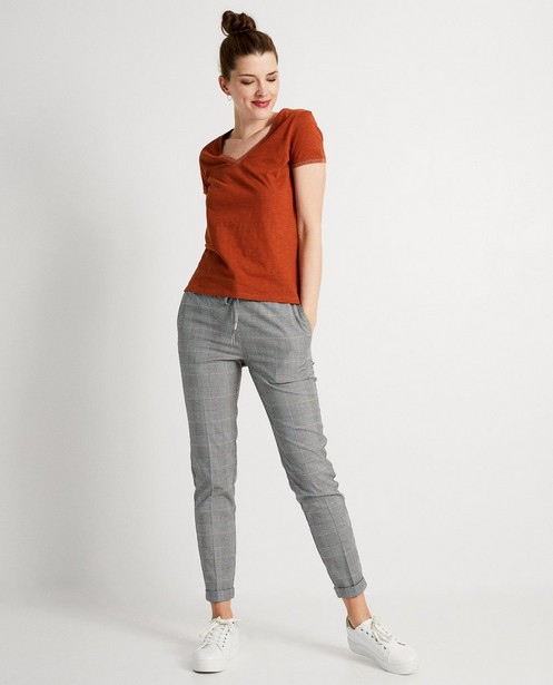 Oranje T-shirt met glitter - metaaldraad - JBC