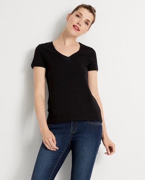 T-shirts - Zwart T-shirt met glitter
