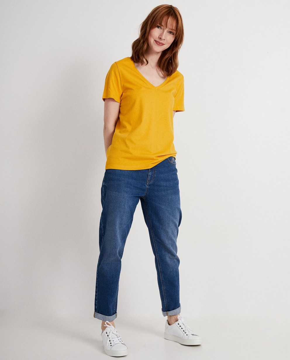 Donkerblauw T-shirt - effen - JBC