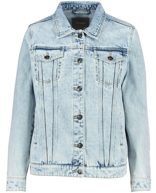 Lichtblauwe jeansjas met wassing - jas - JBC
