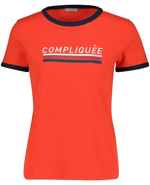 T-shirt bleu foncé à inscription - en français - JBC
