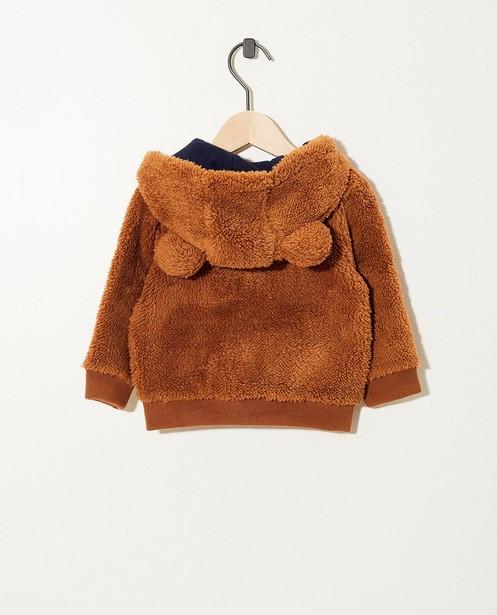 Teddys - Gilet brun, petites oreilles