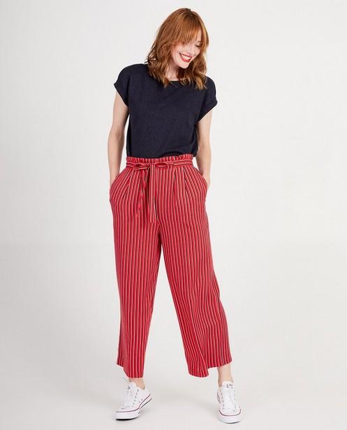 Pantalon rouge Sora - à rayures bleues et roses - Sora