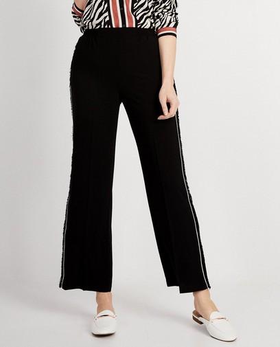 Soepele pantalon in zwart
