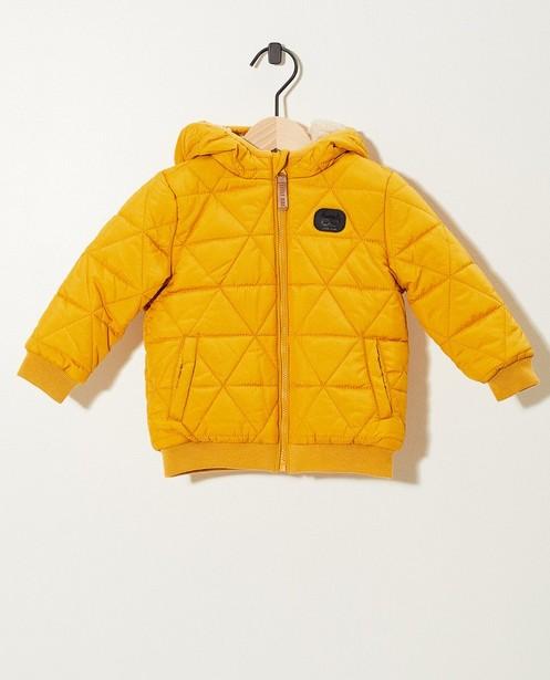 Geel jasje met rits - voering in pels - JBC