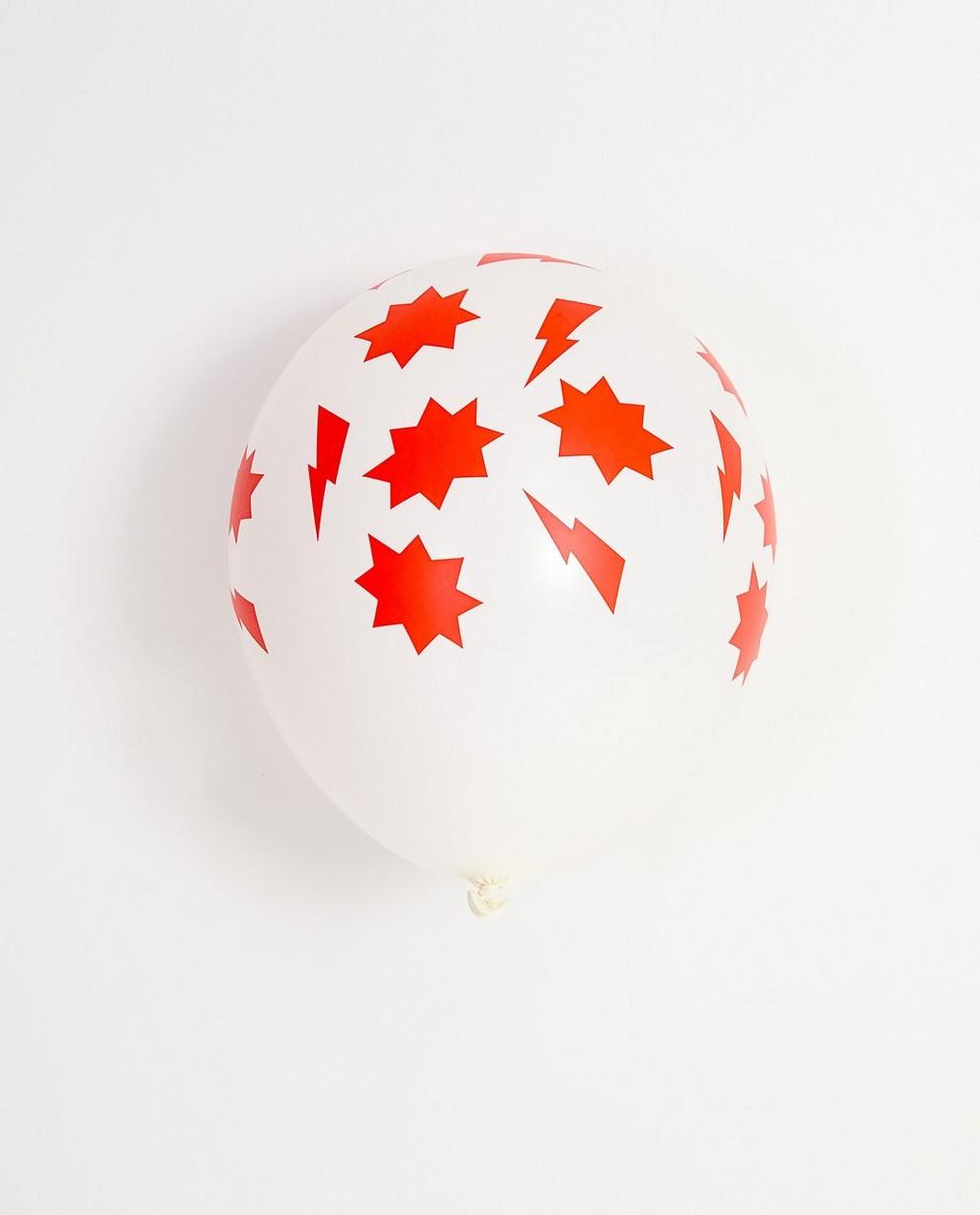 5 ballons d'anniversaire - imprimé coloré - JBC