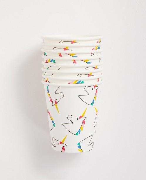 Gobelets d'anniversaire - licorne - JBC