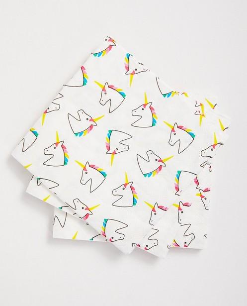 Serviettes d'anniversaire - licorne, 20 pièces - JBC