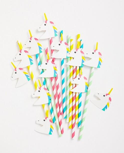 Pailles d'anniversaire - licorne avec décoration - JBC