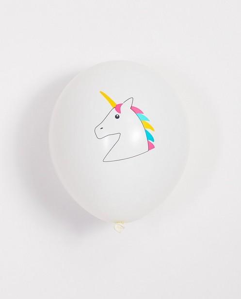 5 ballons d'anniversaire - licorne - JBC