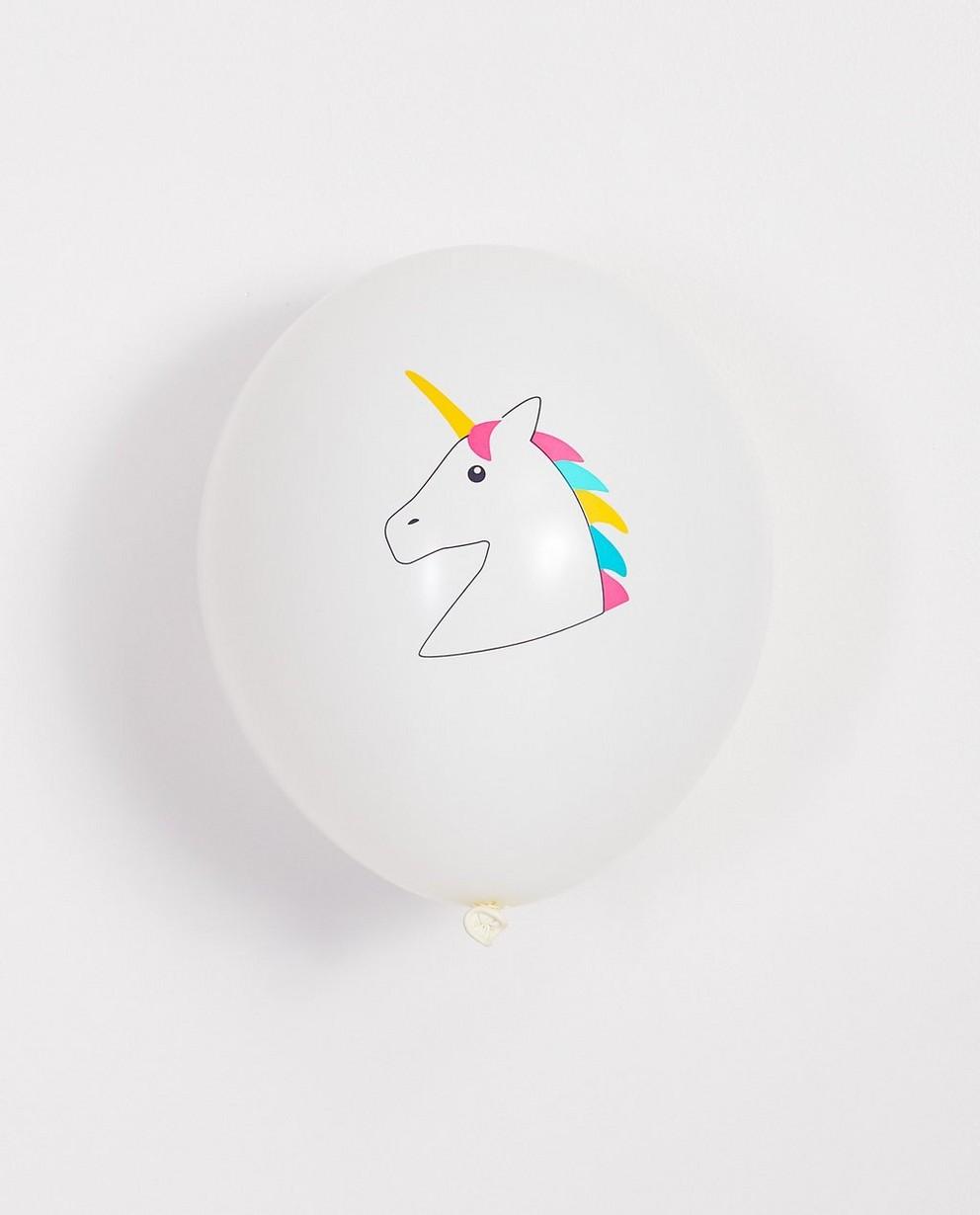 5 ballonnen verjaardag - eenhoorn - JBC