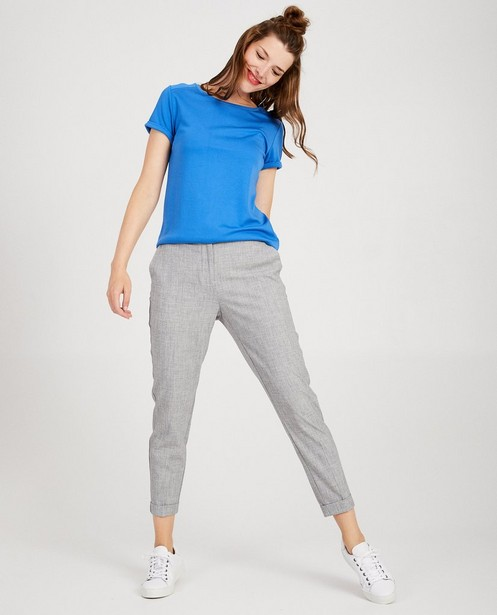 Blauw T-shirt Sora - minimalistisch - Sora